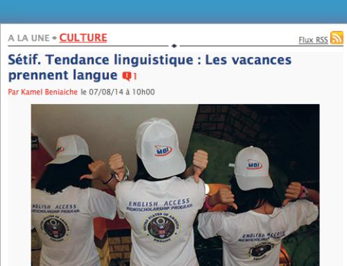 Sétif. Tendance linguistique : Les vacances prennent langue !